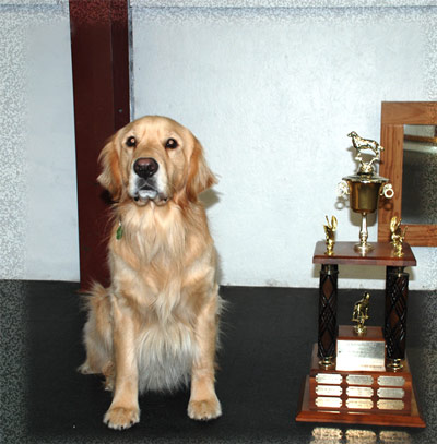 Spencer with Sunrise Trophy