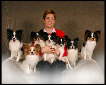 Stacy and her canine family